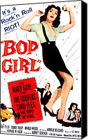 1950s Poster Art Canvas Prints - Bop Girl, Aka Bop Girl Goes Calypso Canvas Print by Everett