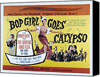 Fid Canvas Prints - Bop Girl Goes Calypso, Aka Bop Girl Canvas Print by Everett