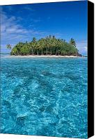 Water Art Canvas Prints - Bora Bora, Motu Canvas Print by Joe Carini - Printscapes