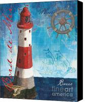 Grey Painting Canvas Prints - Bord de Mer Canvas Print by Debbie DeWitt