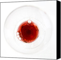 Wine Glass Photo Canvas Prints - Bordeaux Red Canvas Print by Frank Tschakert