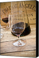 Glass Photo Canvas Prints - Bordeaux Wine Tasting Canvas Print by Frank Tschakert