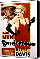 1935 Movies Canvas Prints - Bordertown, Paul Muni, Bette Davis Canvas Print by Everett