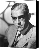 Publicity Shot Canvas Prints - Boris Karloff, Ca 1940s Canvas Print by Everett