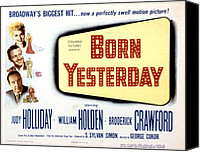 1950 Movies Canvas Prints - Born Yesterday, Broderick Crawford Canvas Print by Everett