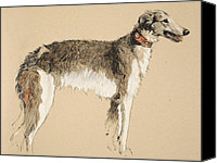 Hound Canvas Prints - Borzoi Canvas Print by Cecil Charles Windsor Aldin