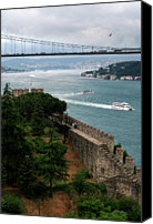 Turkey Photo Canvas Prints - Bosphorus, Istanbul, Turkey Canvas Print by Hulya Ozkok