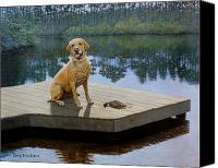 Labrador Retriever Canvas Prints - Boss Canvas Print by Doug Strickland