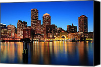 Skyline Canvas Prints - Boston Aglow Canvas Print by Rick Berk
