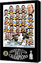 2011 Canvas Prints - Boston Bruins Stanley Cup Champions Canvas Print by Dave Olsen