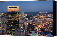 Road Travel Canvas Prints - Boston By Night. Canvas Print by Linh H. Nguyen Photography