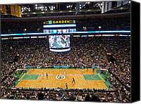 Sport Photography Canvas Prints - Boston Celtics Canvas Print by Juergen Roth