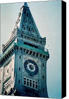 Kevin Callahan Canvas Prints - Boston Clock Tower Canvas Print by Kevin Callahan