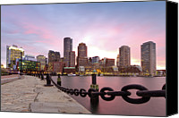 Skyline Canvas Prints - Boston Harbor Canvas Print by Photo by Jim Boud