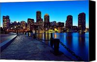 Chains Canvas Prints - Boston Harbor Walk Canvas Print by Rick Berk
