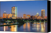 Clarence Holmes Canvas Prints - Boston Night Skyline II Canvas Print by Clarence Holmes