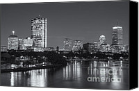 America Canvas Prints - Boston Night Skyline V Canvas Print by Clarence Holmes