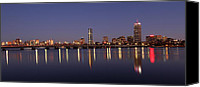 Boston Photo Canvas Prints - Boston Panoramic View Canvas Print by Juergen Roth