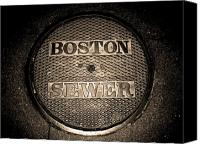 Sheryl Burns Canvas Prints - Boston Sewer Canvas Print by Sheryl Burns