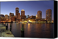 Pier Canvas Prints - Boston Skyline and Fan Pier Canvas Print by Juergen Roth