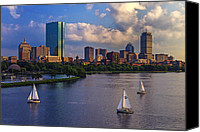 Sailboats Canvas Prints - Boston Skyline Canvas Print by Rick Berk