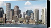 Boston Canvas Prints - Boston Waterfront 1 Canvas Print by Kathy Dahmen