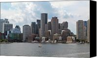 Boston Canvas Prints - Boston Waterfront 6 Canvas Print by Kathy Dahmen