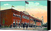Fenway Park Painting Canvas Prints - Bostons Fenway Park In 1914 Canvas Print by Dwight Goss