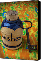 Wish Canvas Prints - Bottle of wishes Canvas Print by Garry Gay