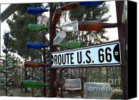 Bottles Canvas Prints - Bottle Trees Route 66 Canvas Print by Glenn McCarthy Art and Photography