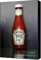 Diners Canvas Prints - Bottled Ketchup - 5D18039 Canvas Print by Wingsdomain Art and Photography