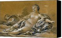 Nude Drawing Photo Canvas Prints - Boucher: Venus Canvas Print by Granger