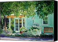 Napa Valley Canvas Prints - Bouchon Bakery in the Morning Canvas Print by Gail Chandler