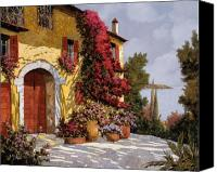 Red Painting Canvas Prints - Bouganville Canvas Print by Guido Borelli