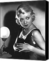 1930s Hairstyles Canvas Prints - Bought, Constance Bennett, 1931 Canvas Print by Everett