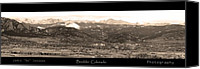 Continental Divide Canvas Prints - Boulder Colorado Sepia Panorama Poster print Canvas Print by James Bo Insogna