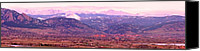 Continental Divide Canvas Prints - Boulder Colorado Sunrise Panorama Canvas Print by James Bo Insogna