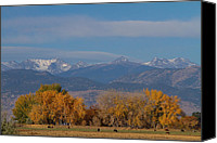 Continental Divide Canvas Prints - Boulder County Colorado Continental Divide Autumn View Canvas Print by James Bo Insogna