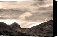 Continental Divide Canvas Prints - Boulder County Indian Peaks Sepia Image Canvas Print by James Bo Insogna