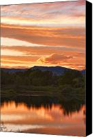 Fine Art Print Photo Canvas Prints - Boulder County Lake Sunset Vertical Image 06.26.2010 Canvas Print by James Bo Insogna