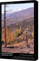 Buy Framed Prints Canvas Prints - Boulder County Wildfire 5 Miles West of Downtown Boulder Canvas Print by James Bo Insogna