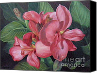 Canna Lilies Canvas Prints - Bountiful Cannas Canvas Print by Rita-Anne Piquet