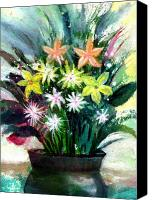 Anil Nene Canvas Prints - Bouquet 2 Canvas Print by Anil Nene