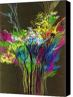 Anil Nene Canvas Prints - Bouquet Canvas Print by Anil Nene