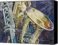 Saxaphone Painting Canvas Prints - Bouquet of Reeds Canvas Print by Jenny Armitage