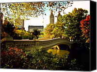 Landscapes Photo Canvas Prints - Bow Bridge - Autumn - Central Park Canvas Print by Vivienne Gucwa