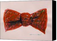 Work On Paper Drawings Canvas Prints - Bowtie 1 Canvas Print by John  Williams