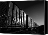 Boxcar Canvas Prints - Boxcar Sunrise Canvas Print by Bob Orsillo