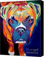 Rainbow Tapestries Textiles Canvas Prints - Boxer - Harley Canvas Print by Alicia VanNoy Call