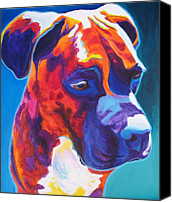 Soulful Canvas Prints - Boxer - Jax Canvas Print by Alicia VanNoy Call